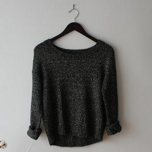 Metallic black sweater